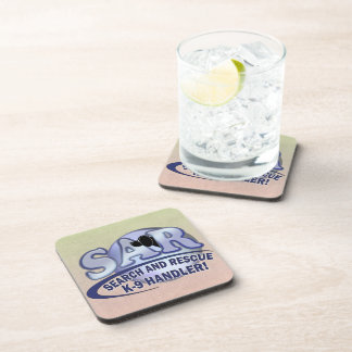 SAR SEARCH AND RESCUE K-9 HANDLER BEVERAGE COASTER