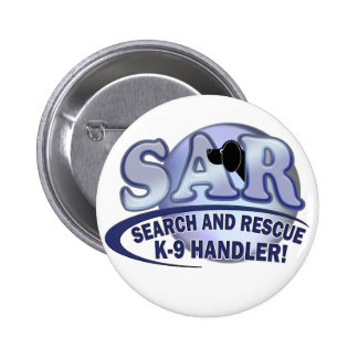 SAR SEARCH AND RESCUE K-9 HANDLER BUTTON