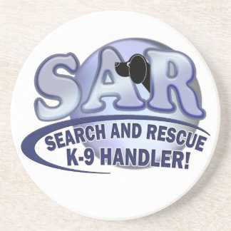SAR SEARCH AND RESCUE K-9 HANDLER DRINK COASTER