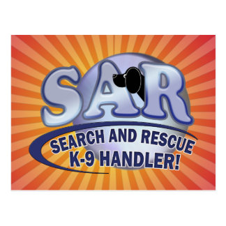 SAR SEARCH AND RESCUE K-9 HANDLER POSTCARD