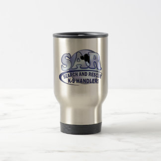 SAR SEARCH AND RESCUE K-9 HANDLER TRAVEL MUG