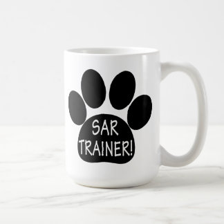 SAR Trainer, Search and Rescue, with Paw Print Coffee Mug