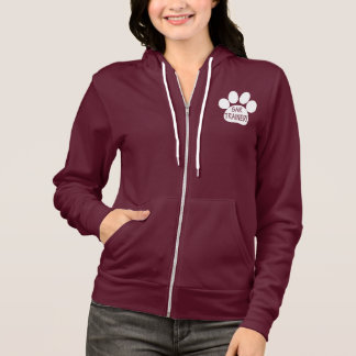 SAR Trainer, Search and Rescue, with Paw Print Hoodie