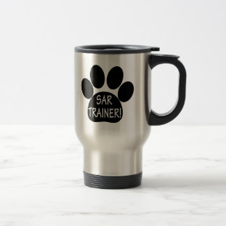 SAR Trainer, Search and Rescue, with Paw Print Travel Mug