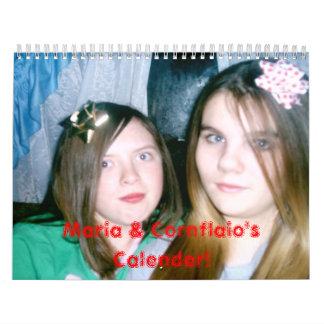 sara and mo 014, Maria & Cornflaio's Calender! Wall Calendars