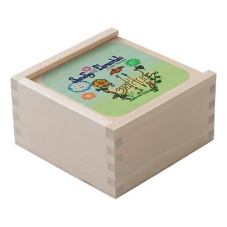 Sara Fay and the Elementals Book 4 Gratitude Bank Wooden Keepsake Box