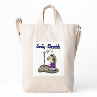 Sara Fay and the Elementals Recycled Canvas Tote Duck Bag
