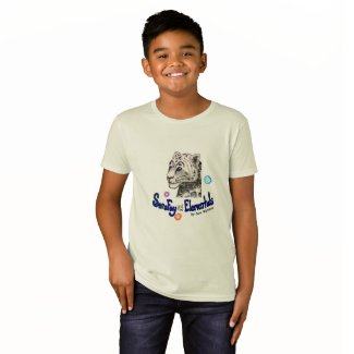 Sara Fay Snow Leopard Kid's Organic Cotton T T-Shirt