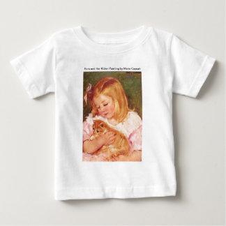 Sara Holding Her Kitten by Marie Cassatt Baby T-Shirt