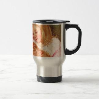 Sara Holding Her Kitten by Marie Cassatt Coffee Mug