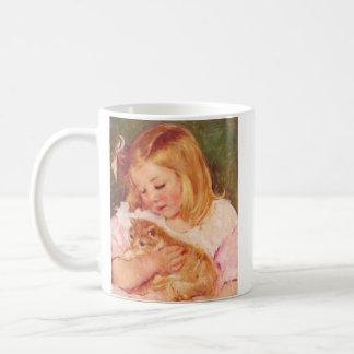 Sara Holding Her Kitten by Mary Cassatt Coffee Mug