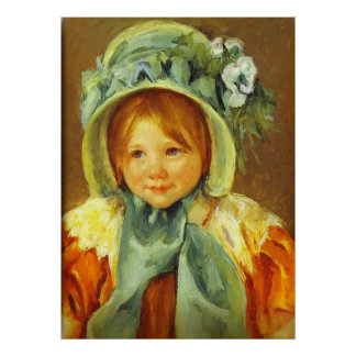 Sara in a Green Bonnet. c. 1901, Mary Cassatt Poster