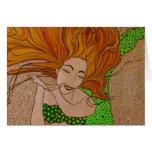 sara mermaid greeting card
