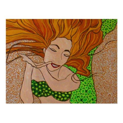 sara mermaid postcard
