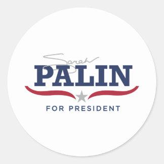 Sara Palin for President Logo Classic Round Sticker