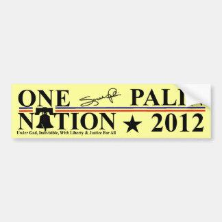 Sara Palin - One Nation Design - 2012 Car Bumper Sticker