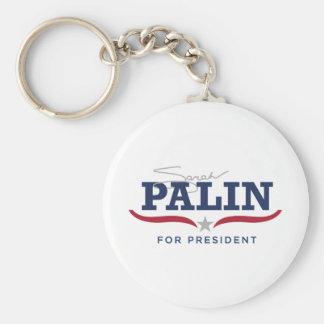 Sara Palin para presidente Logo Llavero Redondo Tipo Pin