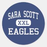 Sara Scott Eagles Milwaukee medio Wisconsin Pegatina Redonda