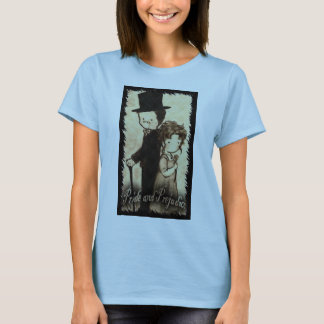 "Sara Stiger--- Baby doll Large brown ""Mrs. Bennet"" T-Shirt"