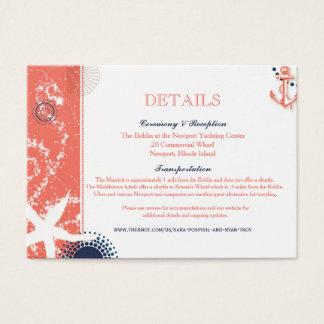 Sara Wedding Accommodations Business Card