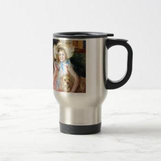 Sara with Pet Dog by Mary Cassatt Travel Mug