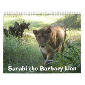 sarabi-set-1-001, Sarabi the Barbary Lion Wall Calendars