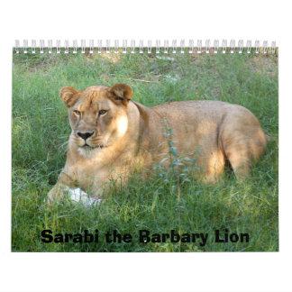 sarabi-toy-025, Sarabi the Barbary Lion Wall Calendars