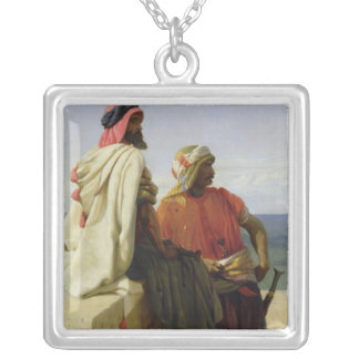 Saracens in front of their Position, 1864 Personalized Necklace