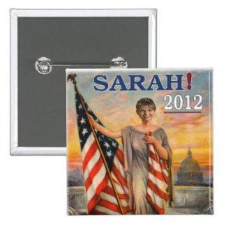 Sarah 2012 pinback button