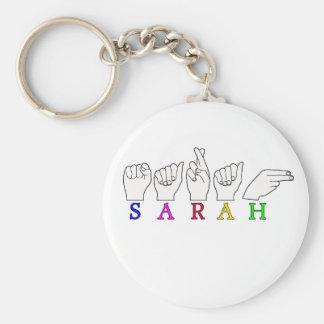 SARAH ASL NAME FINGERSPELLED SIGN KEYCHAIN