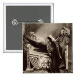 Sarah Bernhardt (1844-1923) as Hamlet in the 1899 Button