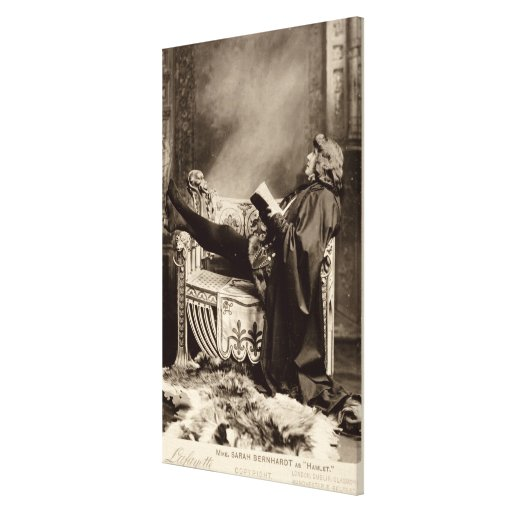 Sarah Bernhardt (1844-1923) as Hamlet in the 1899 Gallery Wrapped Canvas