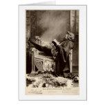 Sarah Bernhardt (1844-1923) as Hamlet in the 1899 Card