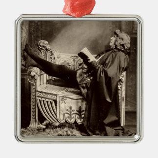 Sarah Bernhardt (1844-1923) as Hamlet in the 1899 Metal Ornament