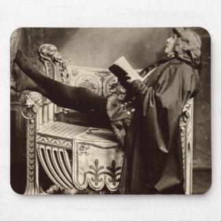 Sarah Bernhardt (1844-1923) as Hamlet in the 1899 Mouse Pad