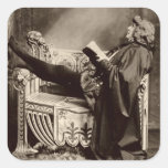 Sarah Bernhardt (1844-1923) as Hamlet in the 1899 Square Sticker