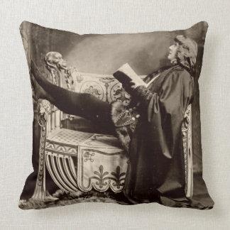 Sarah Bernhardt (1844-1923) as Hamlet in the 1899 Throw Pillow