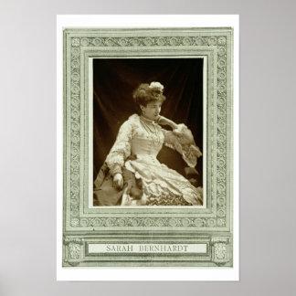 Sarah Bernhardt (1844-1923), de 'Galerie Contemp Poster