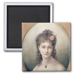 Sarah Bernhardt  1869 2 Inch Square Magnet