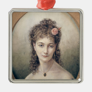 Sarah Bernhardt  1869 Metal Ornament