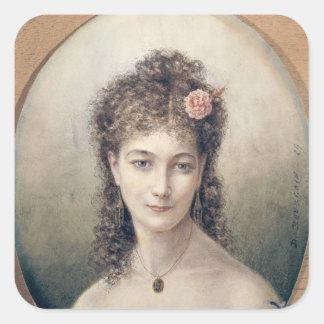 Sarah Bernhardt  1869 Square Sticker
