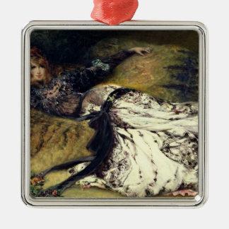Sarah Bernhardt  1871 Metal Ornament