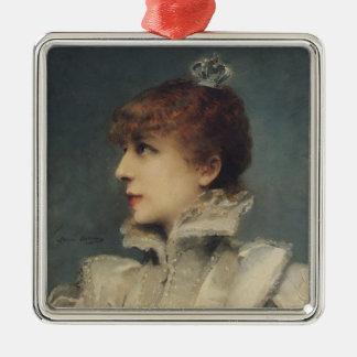 Sarah Bernhardt  1875 Metal Ornament