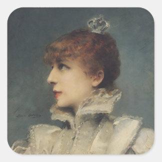 Sarah Bernhardt  1875 Square Sticker