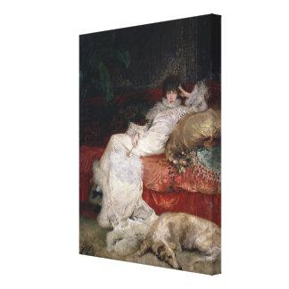 Sarah Bernhardt 1876 Lona Envuelta Para Galerias