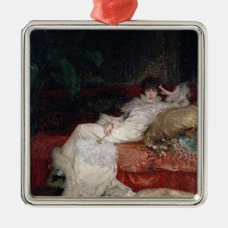 Sarah Bernhardt  1876 Metal Ornament
