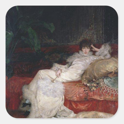 Sarah Bernhardt  1876 Square Sticker