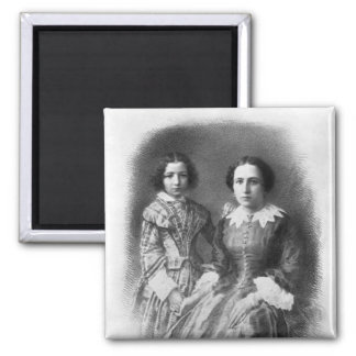 Sarah Bernhardt and her mother? 2 Inch Square Magnet