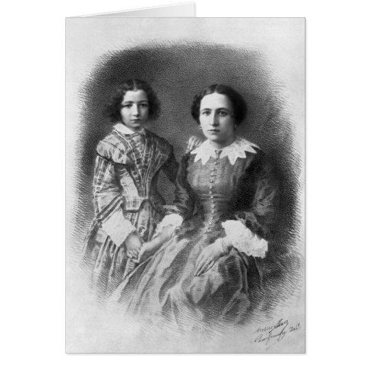 Sarah Bernhardt and her mother? Card