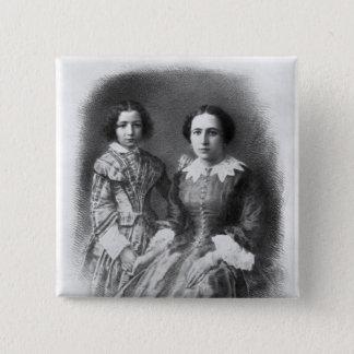 Sarah Bernhardt and her mother? Pinback Button